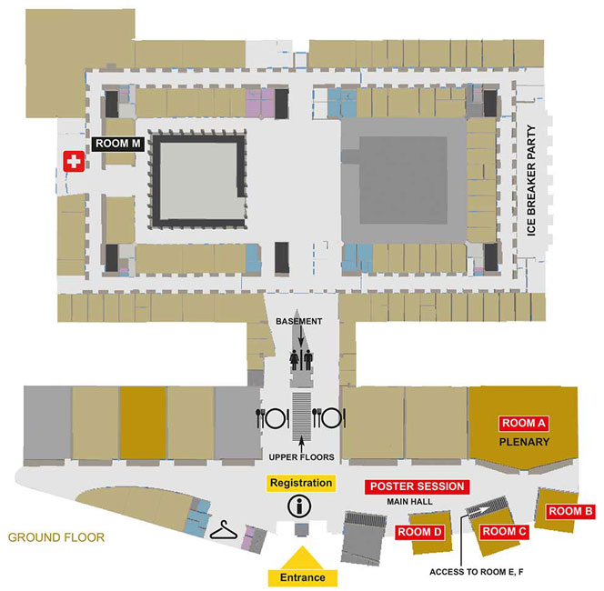 Eötvös Loránd University, Lágymányosi Campus, Southern Block, Ground Floor Layout